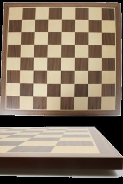 Ξύλινη σκακιέρα Handy 45x45 | Σκακιέρα με επένδυση καπλαμά